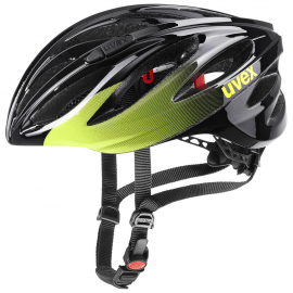 Cyklistická helma Uvex Boss race black/lime 2021