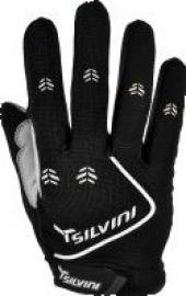 Cyklistické rukavice prstové gelové Silvini Barrata UA483M černé pánské