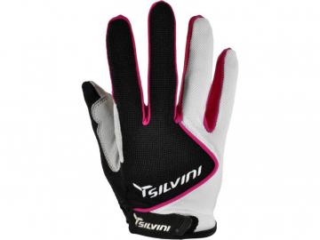 Cyklistické rukavice prstové gelové Silvini Barrata UA483W černo bílé dámské