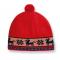Dětská pletená čepice Kama B37 červená
