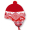 Dětská pletená čepice Kama B48 červená