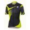 Cyklistický dres pánský Sportful Spark jersey černo šedo neonově žlutá
