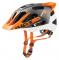 Cyklistická helma Uvex Quatro pro, white-orange mat 2018