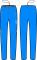 Běžecké kalhoty dámské KV+ Exclusive 8V108.2 blue 2019/20