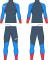 Běžecká kombinéza KV+ Lahti two pieces suit grey/blue/red 21V118-92 2020/21