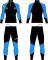 Běžecká kombinéza KV+ Lahti two pieces suit black/blue 21V118-12 2020/21