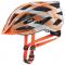 Cyklistická helma Uvex Air wing CC grey/orange mat 2021
