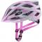 Cyklistická helma Uvex Air wing CC grey - rosé mat  2021